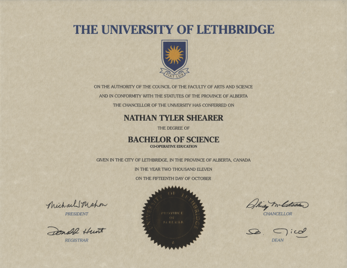Bachelor of Science Computer Science at University of Lethbridge