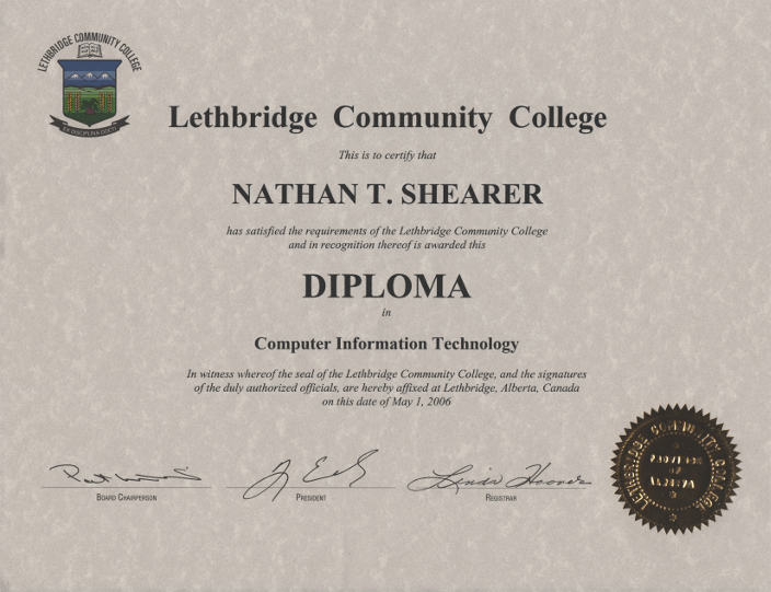 Diploma in Computer Information Technology at Lethbridge Community College